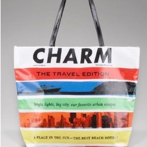 Kate spade CHARM Bon Shopper Magazine Tote Bag